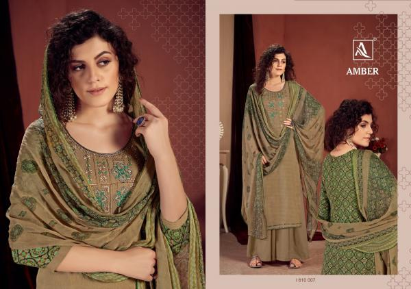 Alok-Amber Viscose Rayon Designer Embroidery Suit Collection