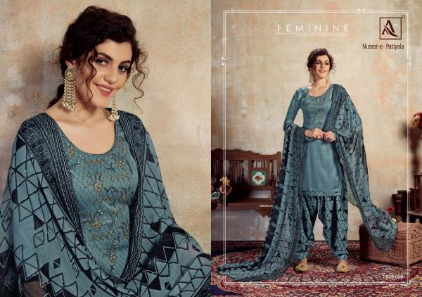 Alok-Nusrat E Patiyala Jam Embroidery Designer Unstich Dress Collection