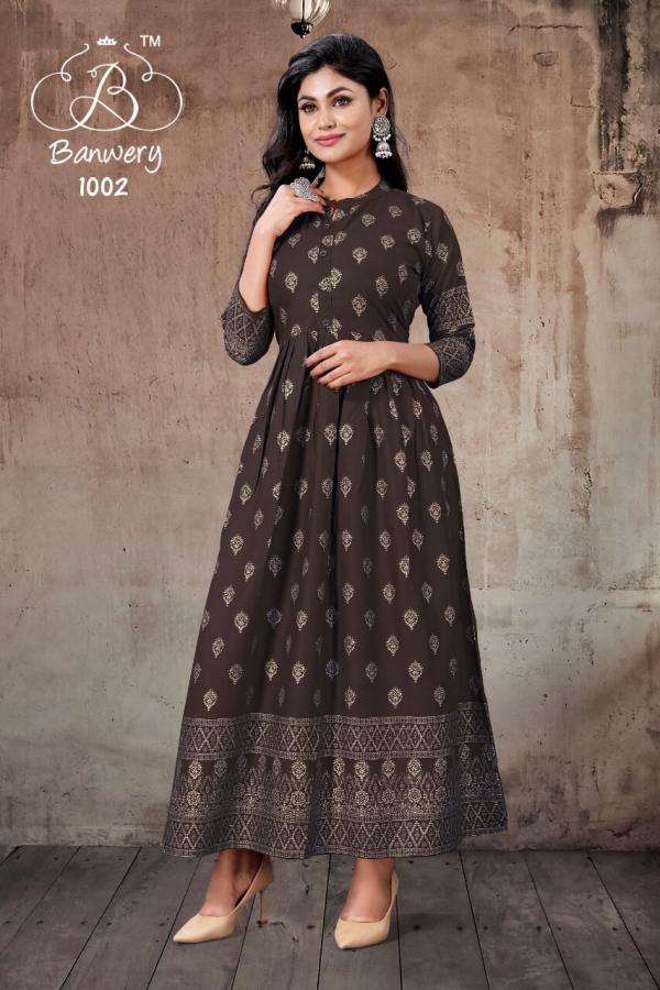 Banwery Pari 1 Rayon Fancy Long Kurti Collection
