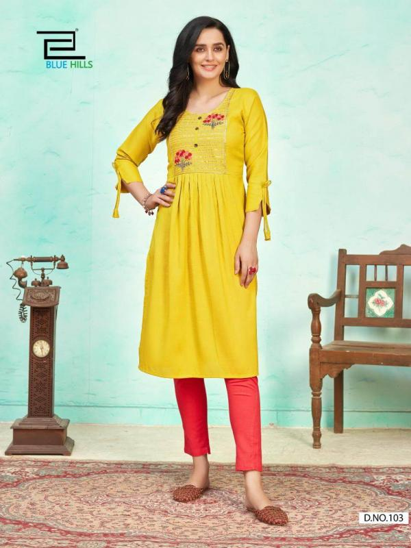 Blue Hills Lilly Rayon Stylist Kurti Collection