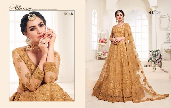Bridal-Heritage-1001 Net Silk Satin Colorful Wedding Lehenga Collection