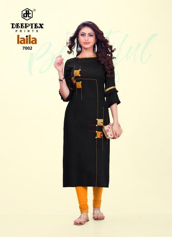 Deeptex-Laila-7 Rayon Stiched Stright Cut Kurtis