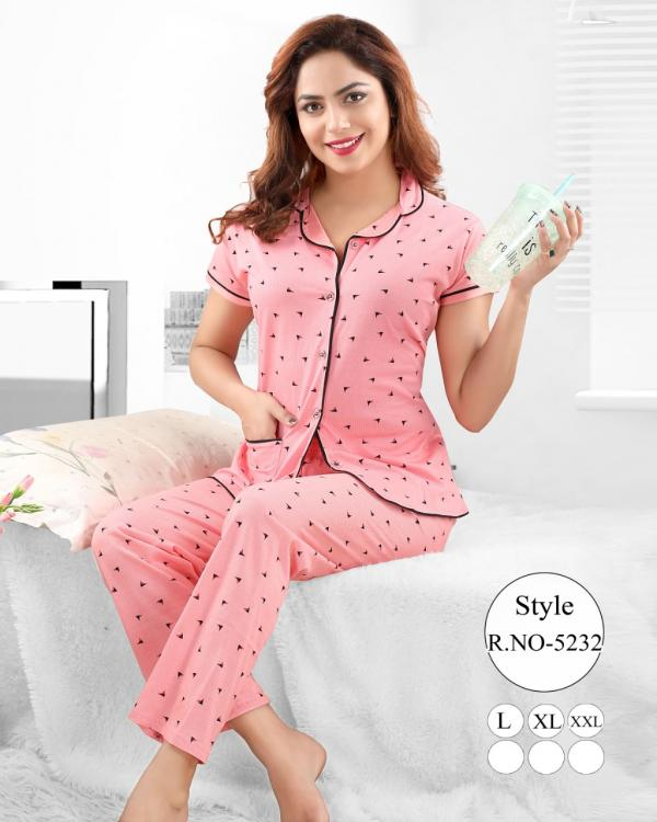 Front Open Vol-39 Cotton Night Suits Collection