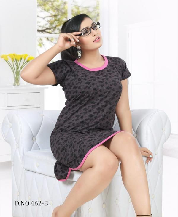 Kavyansika-462 Cotton Short Night Gown Collection