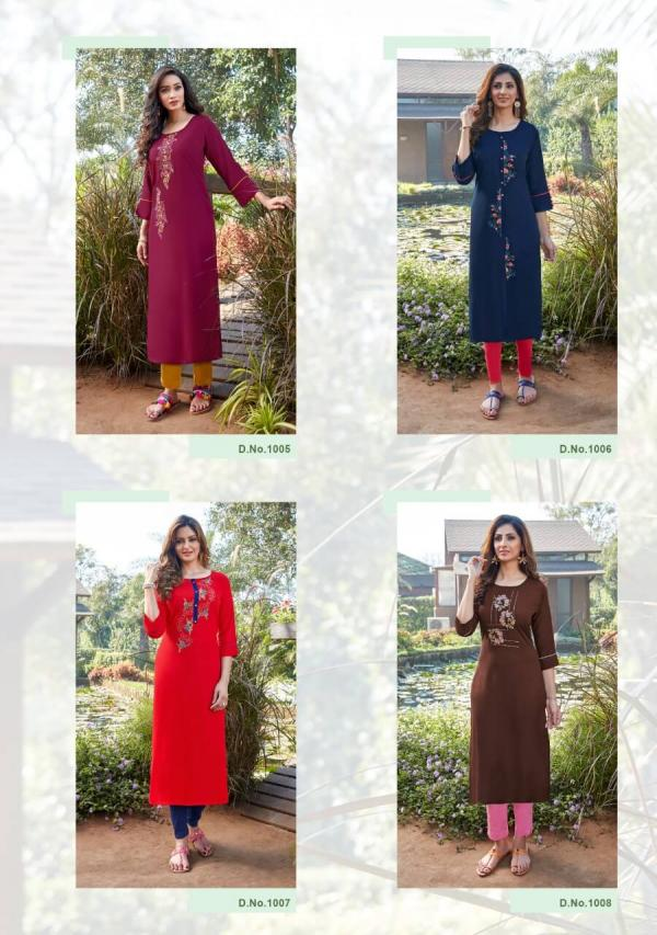 Parra Rangoon 2 Fancy Rayon Embroidery Kurti Collection