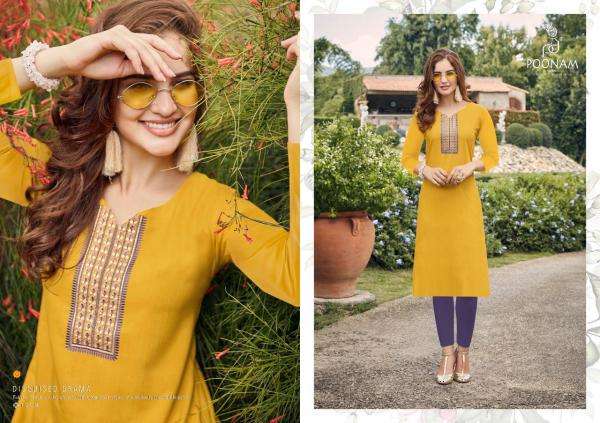 Poonam-Kurti House-1 Cotton Slub Embroidery Kurtis Seller
