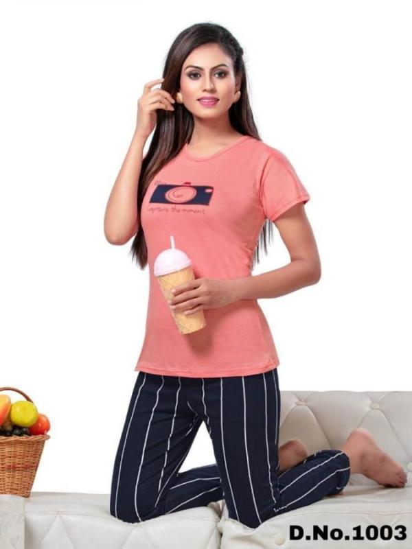 Quality Nightsuits-4 Cotton Ladies Night Wear Collection