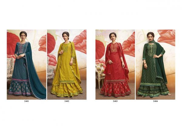 Rangoon-Natraj Rayon Printed With Work Suits