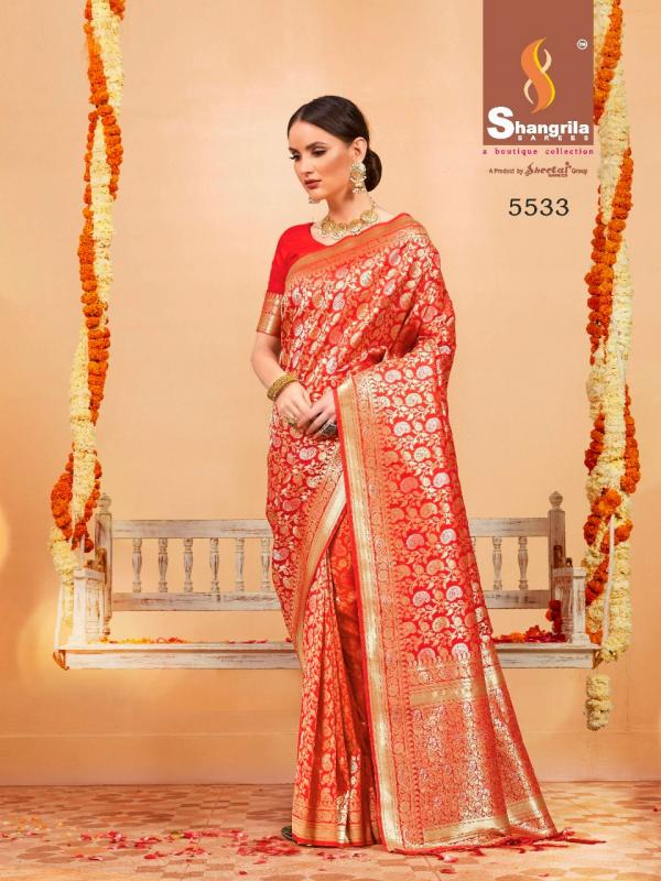 Shangrila Banarasi Zari Silk Festive Wear Rich Look Saree Wholesale