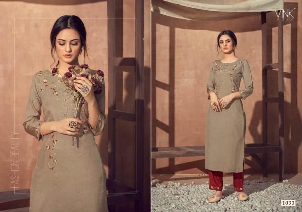 Vink Vintage Viscose Designer Kurti With Bottom Set Online